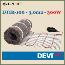 DEVIcomfort 100 - DTIR-100 fűtőszőnyeg - 3m2 (0,5x6m) - 300W