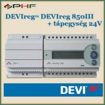 DEVIreg 850III + tápegység 24V
