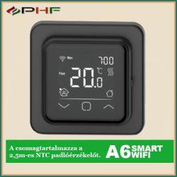 A6 Wi-Fi termosztát fekete/fehér