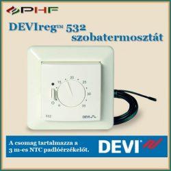 DEVIreg™ 532 - padló-és levegőérzékelővel