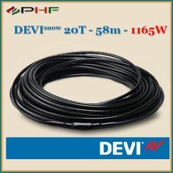 DEVIsafe™ 20T - 20W/m - 58m - 1165W