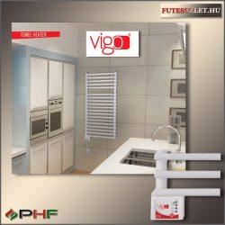 VIGO  600W - elektromos törölközőszárító radiátor, fehér