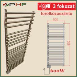VIGO  600W - elektromos törölközőszárító radiátor, inox