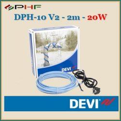DEVI DPH-10 V2 - 10W/10°C - 2m - Önszabályozó fűtőkábel