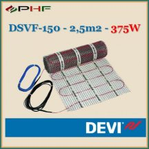 DEVIheat - DSVF-150  - 0,5x5m - 2,5m2  - 375W