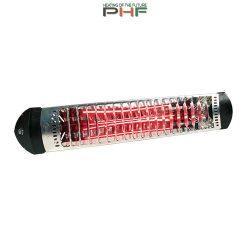 MO-EL Sharklite infra rubin hősugárzó, 1800W,fekete  kapcsolóval és vezetékkel - M718-N (fekete)