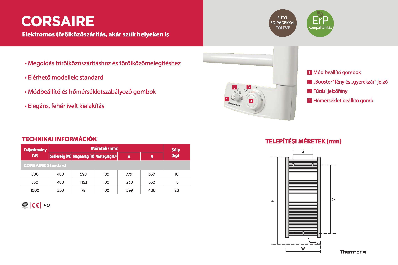 thermor corsaire íves leketromos törölközőszárító radiátor, termosztát, fagyálló folyadék